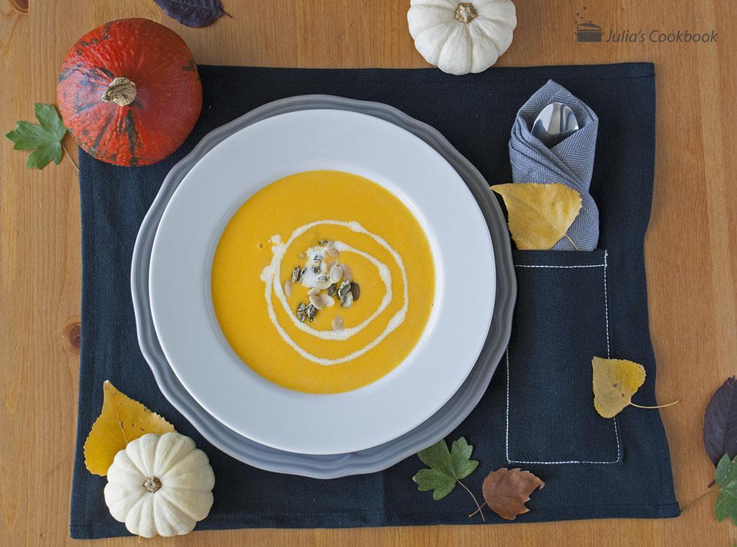 Солнечный крем-суп из тыквы