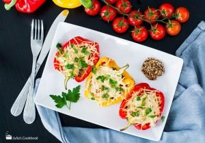 Перец с беконом и сыром