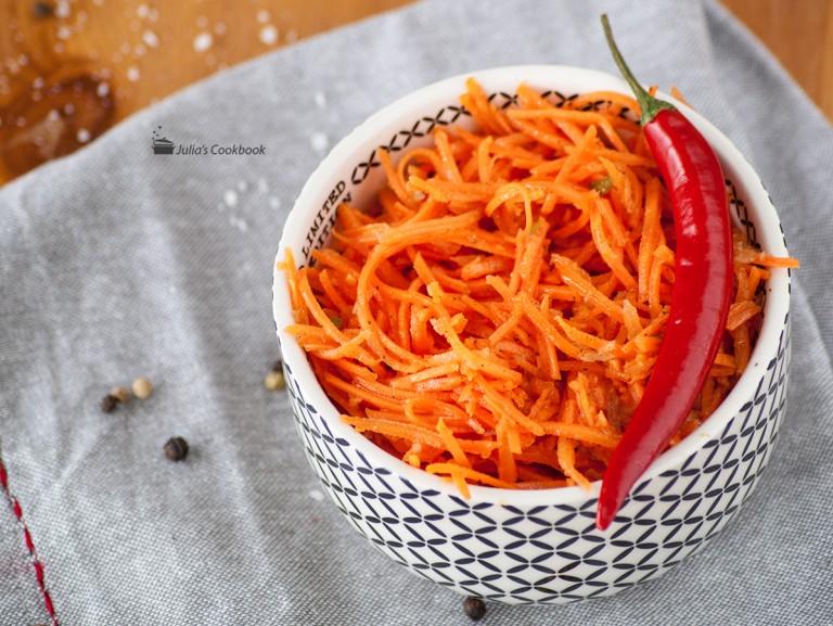 Как сделать быстро морковку по-корейски