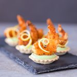 Тарталетки с креветкой темпура