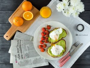 Тост с авокадо и яйцом пашот