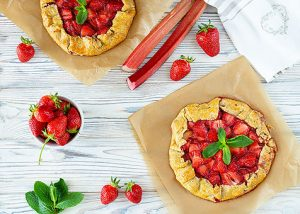 Rustic strawberry galette