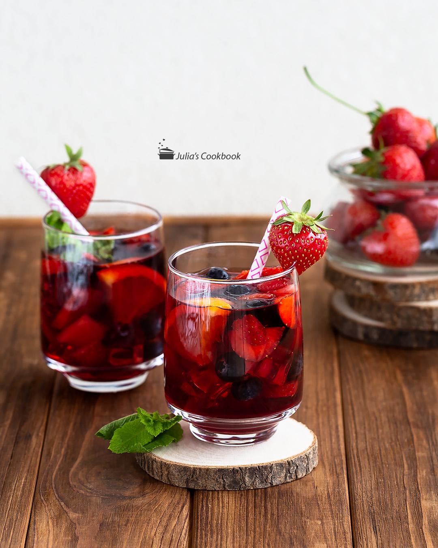 Сангрия из красного вина