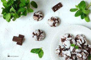 Мраморное мятное печенье