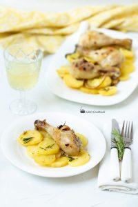Картофель и курица из духовки
